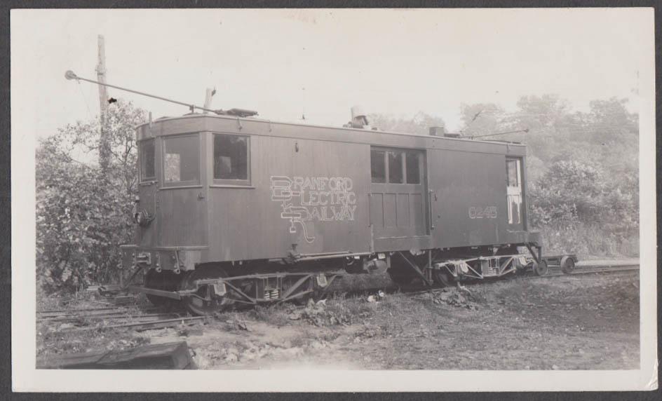 Image for Branford Electric Railway locomotive #0245 Branford CT photograph 1948