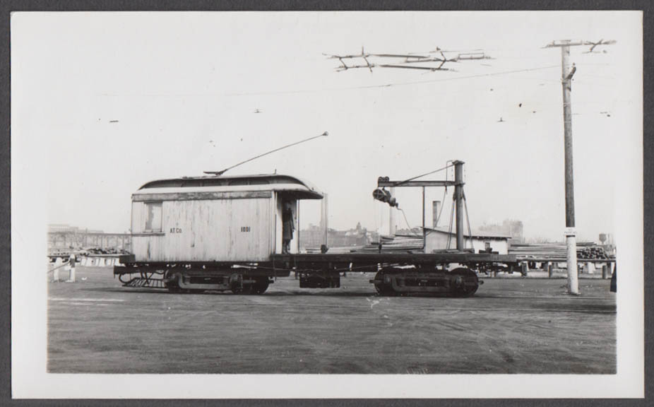 Image for Akron Transportation Company Crane Service Car #1001 photograph OH