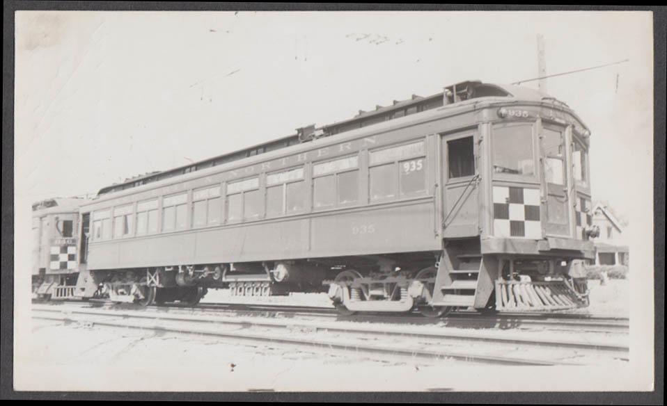 Image for Lake Erie & Northern Railway interurban car #935 at Brantford ON photograph 1949