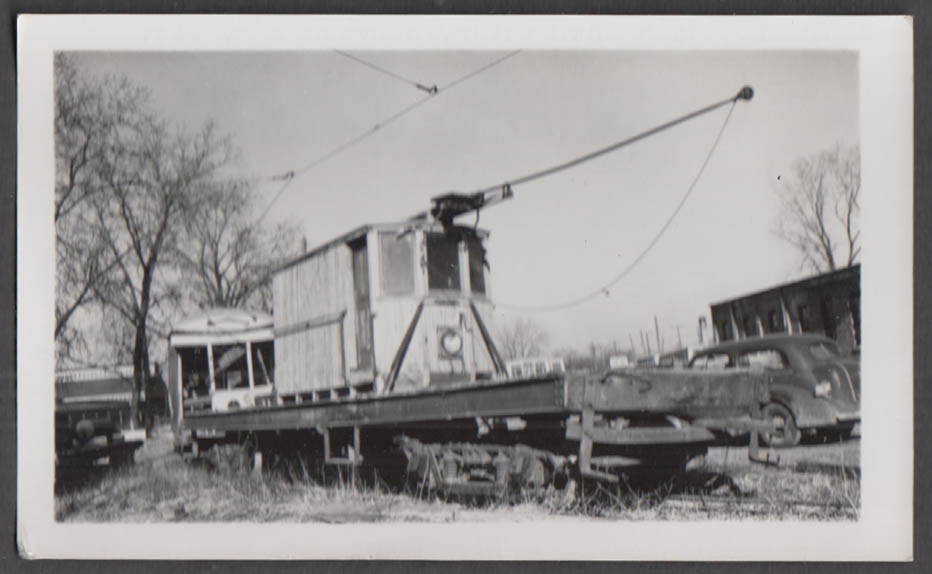 Image for Chicago & West Towns Railway Service Car #12 at 22nd & Harlem Sts Barn photo