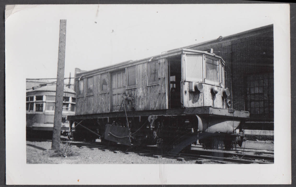 Image for Akron Transportation street railway track sweeper car #041 photograph OH