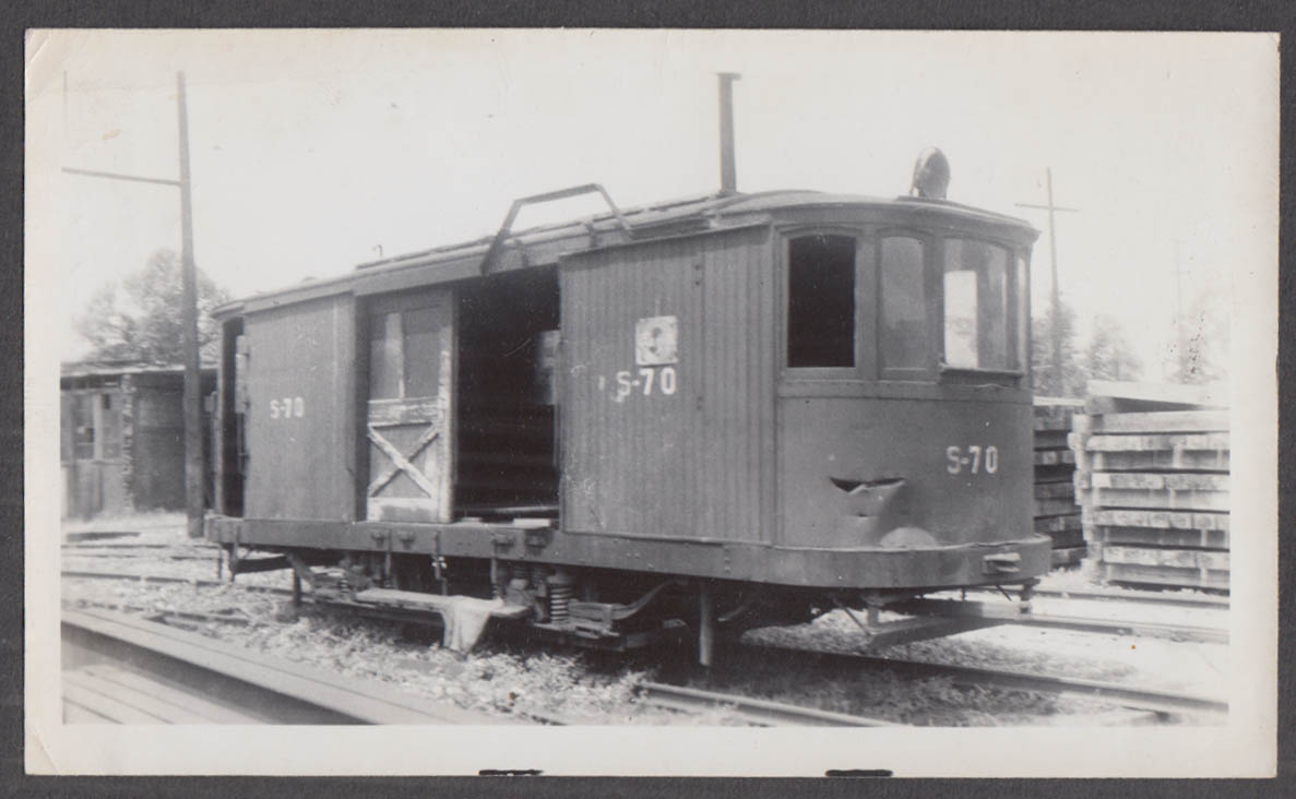 Image for Cincinnati Street Railway Work Car #S-70 at Cincinnati photograph 1941