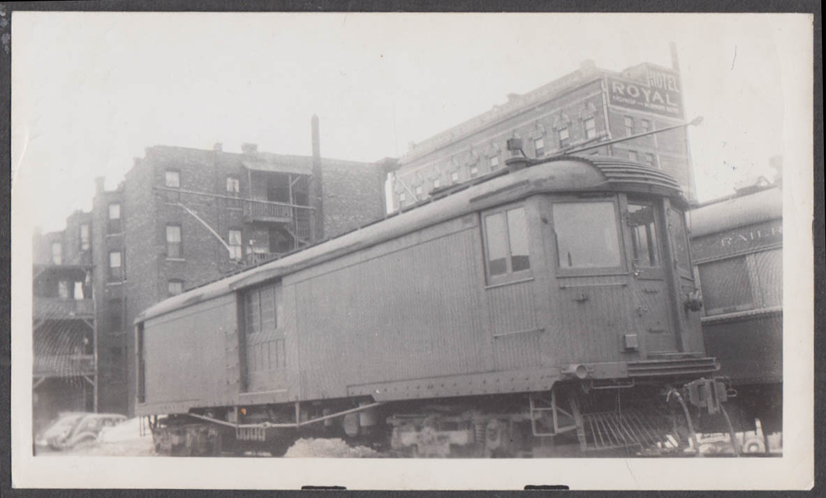 Image for Chicago North Shore & Milwaukee Railroad electric motor car #230 photograph 1941