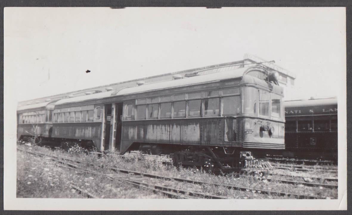 Image for Cincinnati Hamilton & Dayton Ry 2-unit passenger cars Moraine OH photograph 1937