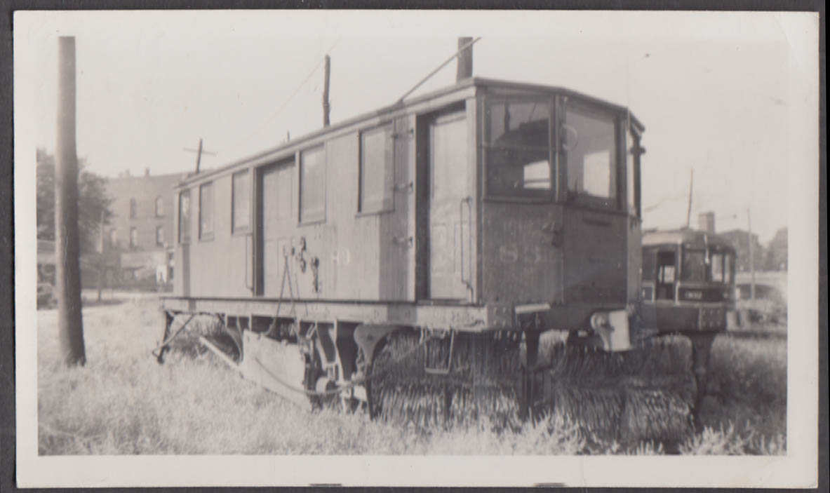 Image for Jamestown Westfield & Northwestern Ry Sweeper Car #83 photograph 1940