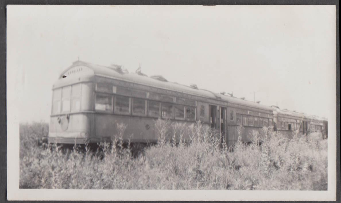 Image for Cincinnati & Dayton Railway 5-passenger car string at Moraine OH photograph 1937