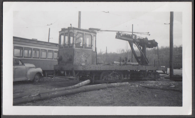 Image for Cincinnati Street Railway derrick work car #S-90 photograph 1951