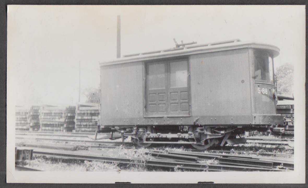 Image for Cincinnati Street Railway Work Car #S-88 at Cincinnati photograph 1941
