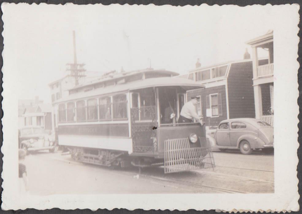 Image for Cincinnati Newport & Covington Ry streetcar & motorman photograph