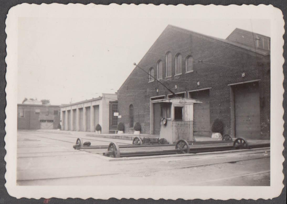 Image for Virginia Electric Power transfer table Richmond car barn shop photograph 1944