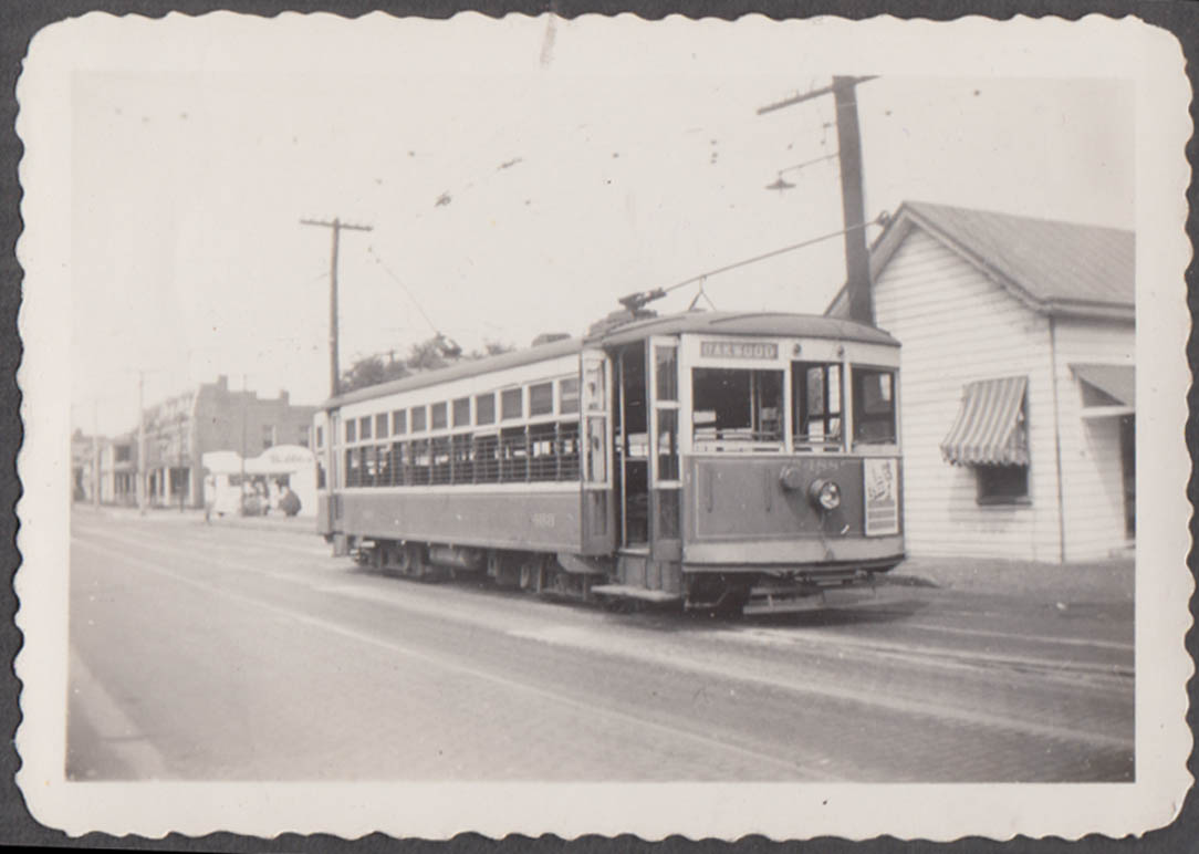 Image for Virginia Electric Power Company streetcar #488 at Richmond phptpgraph 1944