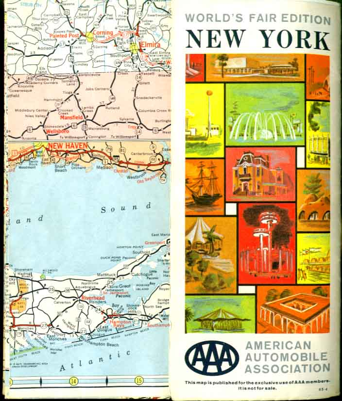 Image for AAA 1964 World's Fair NY state road map