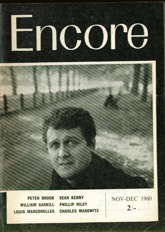 ENCORE Peter Brook Jack Gelber Gaskill John Arden 11 1960