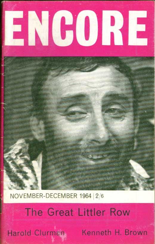 "ENCORE Harold Clurman; Muriel Crane on Brecht; Kenneth H Brown's ""Brig"" 11 1964"