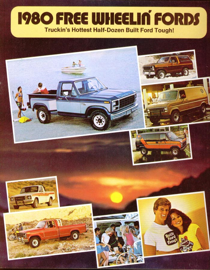 Ford Pickup Bronco Courier Van 1980 sales brochure
