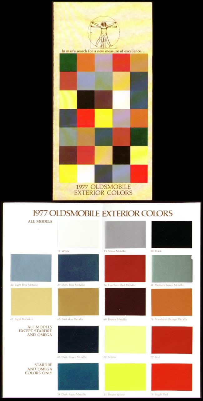 Oldsmobile Exterior Colors 1977 folder