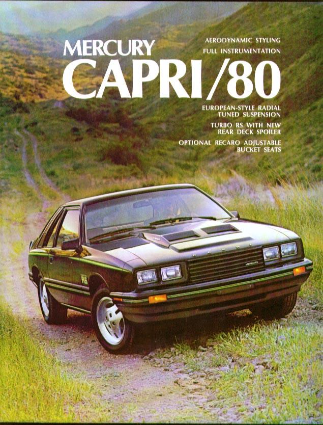 Mercury Capri 1980 sales brochure full-color