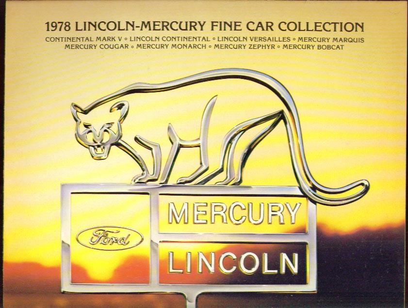 Lincoln-Mercury Fine Cars 1978 broadside Continental ++