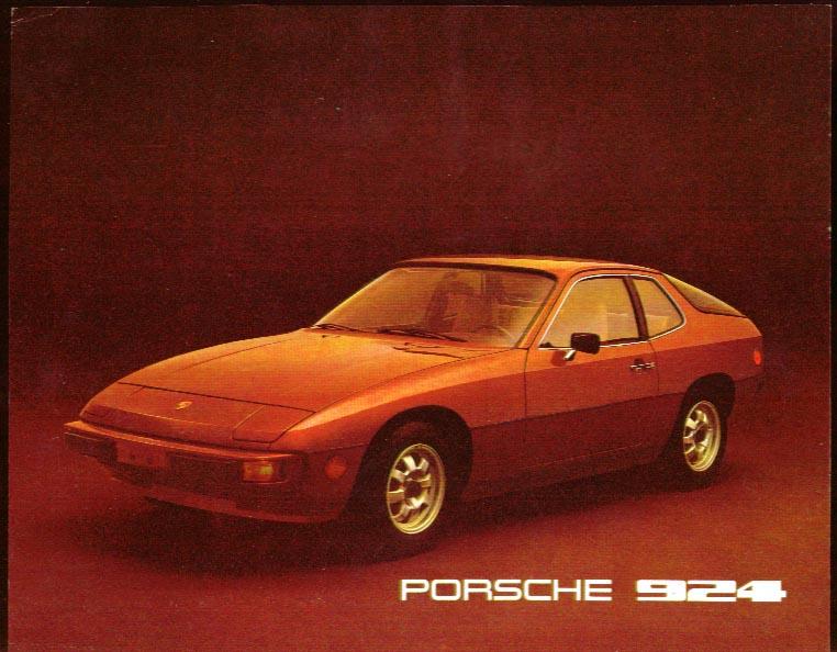 Porsche 924 sell sheet 1976
