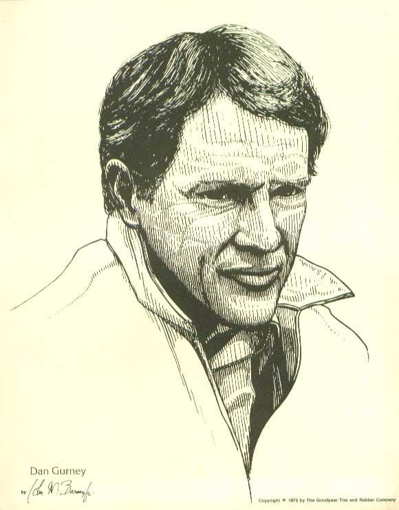 Dan Gurney 8x10 print 1975 Goodyear John W Barnes Jr