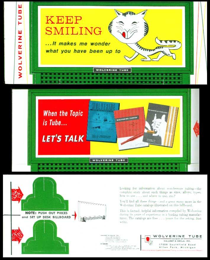 Image for Wolverine Tube desktop billboard 1950s? Keep smiling