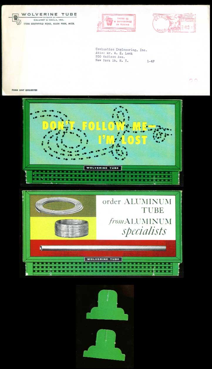 Wolverine Tube desktop billboard 1960 Don't follow me
