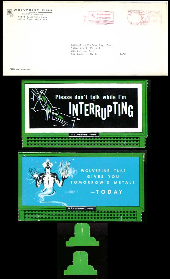 Image for Wolverine Tube desktop billboard 1950s? Please don't