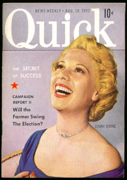 QUICK Dinah Shore 8/18 1952
