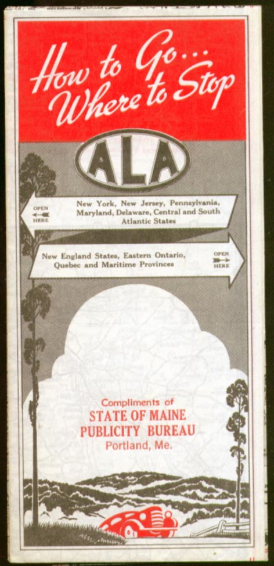 ALA Green Book road map New England and Canada 1940s?