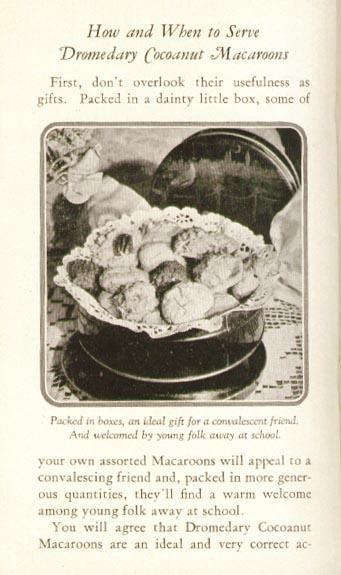 Hills Brothers Dromedary Cocoanut 10 Delicacies booklet