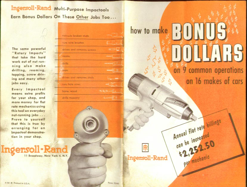 Ingersoll-Rand Make Bonus Dollars with Impactools date?