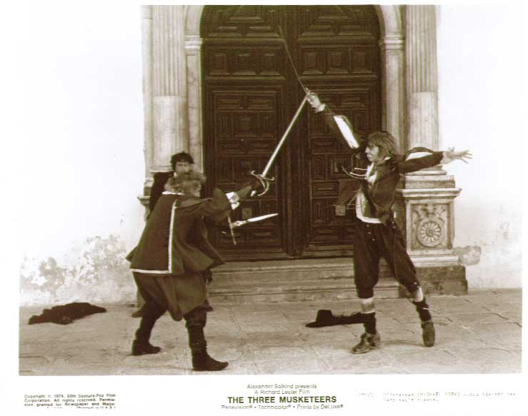 Michael York swordfight: Three Musketeers 8x10 still 5