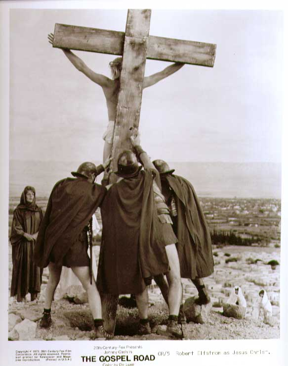 Robert Elfstron as Jesus: The Gospel Road 8x10 still 5