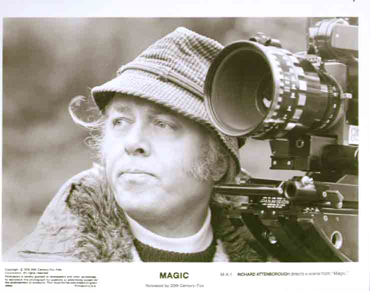 Richard Attenborough directing Magic 8x10 still 2