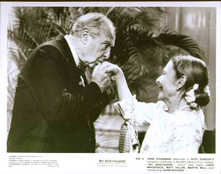 John Houseman & Ruth Gordon: My Bodyguard 8x10 still 14