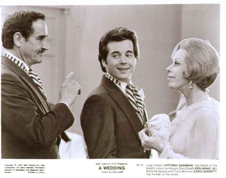 Vittorio Gassman Carol Burnett Desi Arnaz Jr A Wedding 8x10 still 12