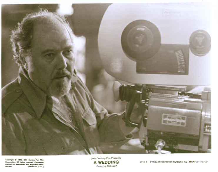 Director Robert Altman: A Wedding 1978 8x10 still X1