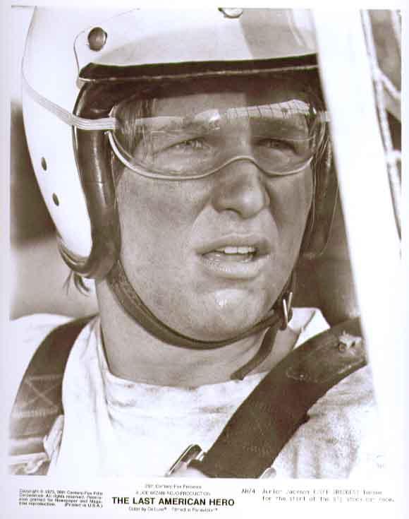 Jeff Bridges racing helmet Last American Hero 8x10 photo 4