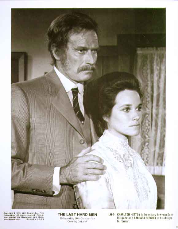 Charlton Heston Barbara Hershey Last Hard Men 8x10 photo 9