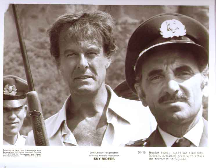 Robert Culp Charles Aznavour: Sky Riders 1976 8x10 photo 19