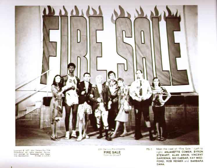 Sid Caesar Rob Reiner + cast: Fire Sale 1977 8x10 pic 1