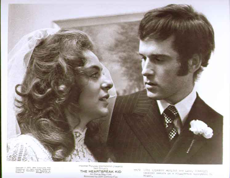 Charles Grodin Jeannie Berlin in wedding veil Heartbreak Kid 8x10