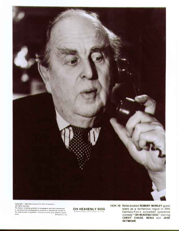 Robert Morley phone: Oh Heavenly Dog 1980 8x10 still 18