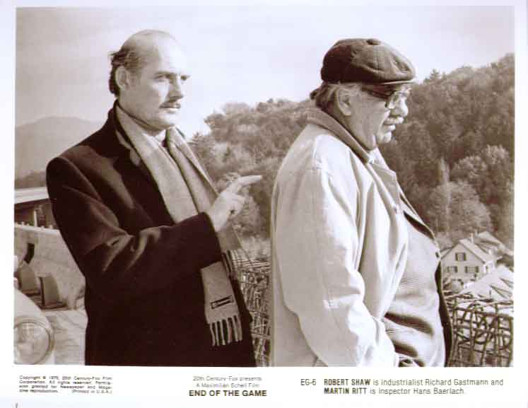 Martin Ritt & Robert Shaw: End of the Game 8x10 still 6