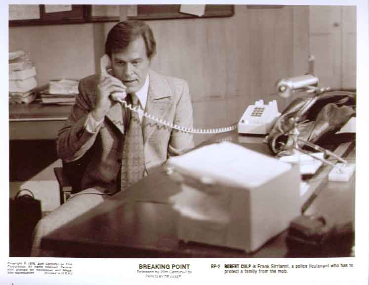 Robert Culp on phone: Breaking Point 1976 8x10 still 2