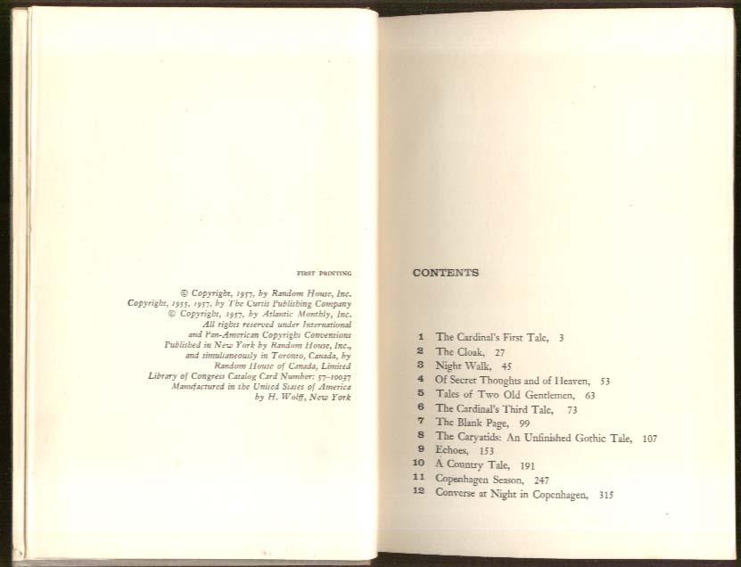 Isak Dinesen: Last Tales 1st edition 1957