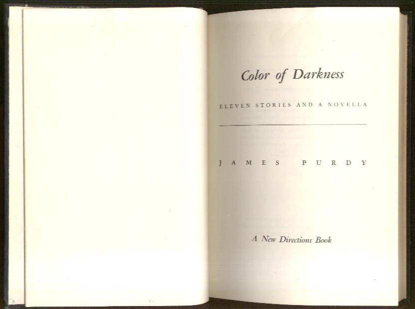 Image for James Purdy The Color of Darkness 1st ed 1957