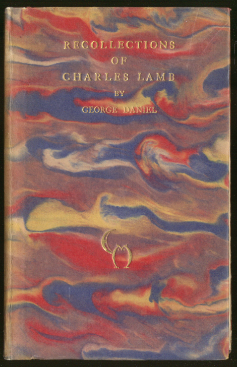 George Daniel: Recollections of Charles Lamb 1st ed 1928 #19 of 500