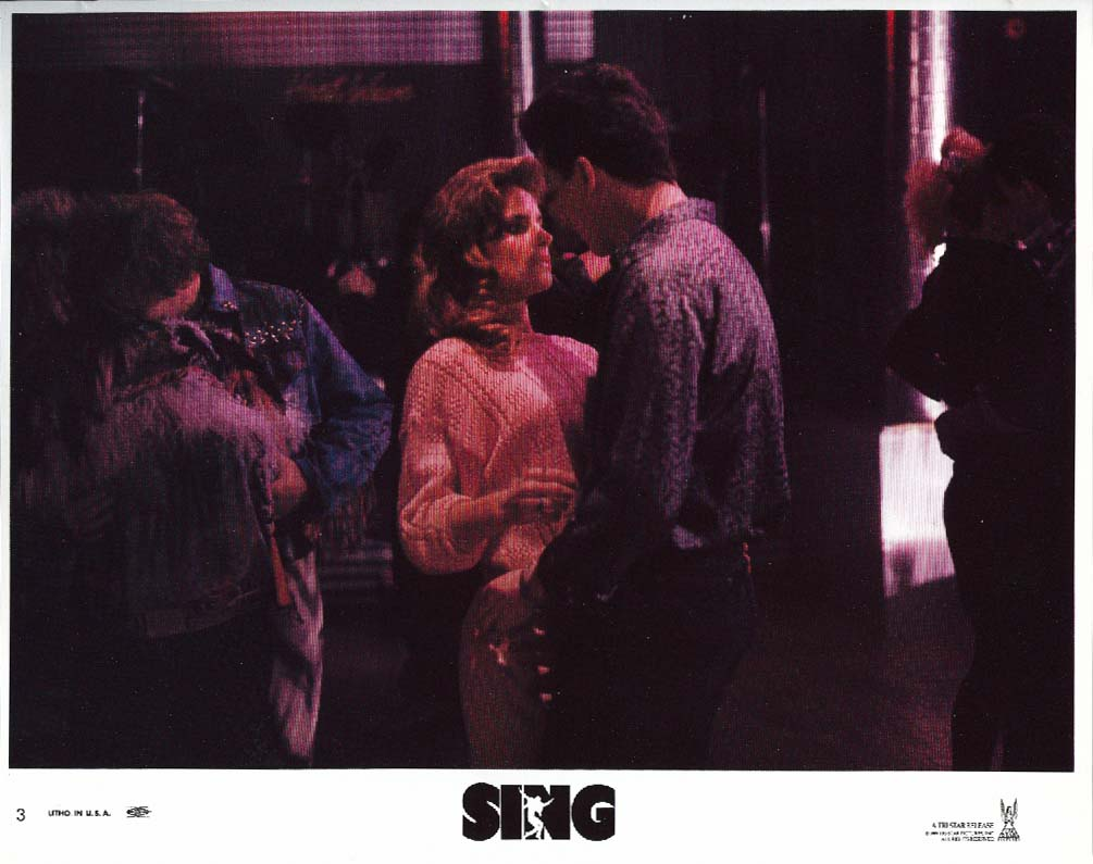 Jessica Steen Peter Dobson Sing lobby card 1989