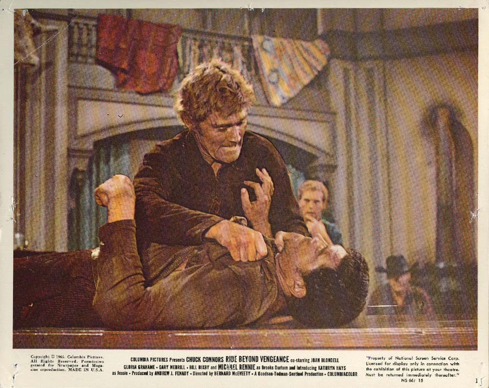 Image for Chuck Connors Ride Beyond Revenge lobby card 1965